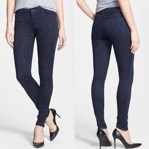 MOTHER The Looker Printed Floral Skinny Jeans
